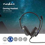 Nedis Wralon GHST200BK Stereo Gaming Ultra Bass Headset_