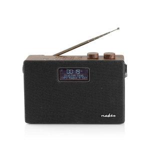 Nedis Digitale DAB+ radio | 15 W | FM | Bluetooth® | Bruin / zwart