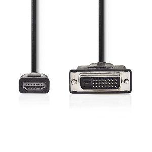 HDMI™ Connector | DVI-D 24+1-Pins Male | 1080p | Vernikkeld | 2.00 m | Recht | PVC | Zwart