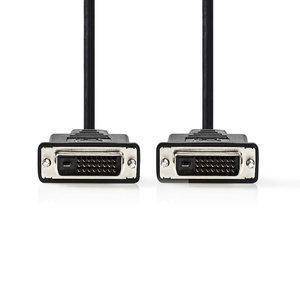 DVI-D 24+1-Pins Male | DVI-D 24+1-Pins Male | 1080p | Vernikkeld | 2.00 m | PVC | Zwart