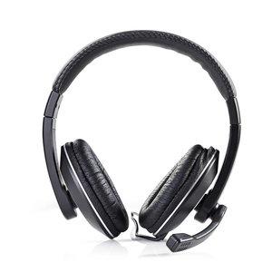 Nedis Over-Ear | Stereo | 2x 3.5 mm | Opvouwbare Microfoon | 2.00 m | Zwart