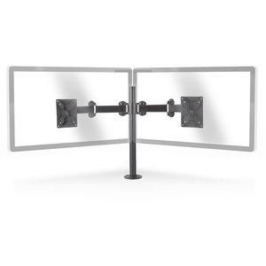 """Monitorbeugel voor 2 schermen   14-24 """"   75x75 / 100x100   Draai- en Kantelbaar"""
