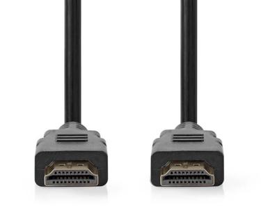 HDMI-KABEL HIGH-SPEED + ETHERNET 4K/HD, 1,5MTR. ZWART