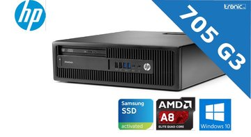 HP EliteDesk 705 G3 small form factor pc - AMD® A8-9600 - 8GB DDR4 - 250GB Samsung SSD - Gebruikt