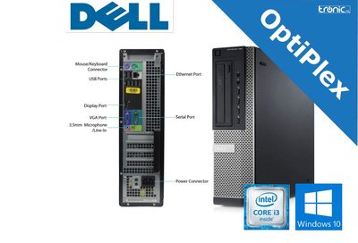 Dell OptiPlex 7010 Compacte PC - Intel® Core™ i3-3220 - 4GB RAM - 250GB SSD - Gebruikt