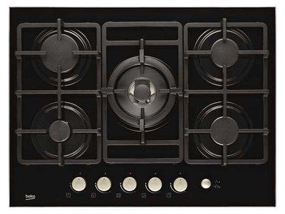 Beko HISW75235S 5 pits kookplaat Gas-op-Glas